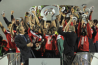 FOOTBALL - FRENCH CHAMPIONSHIP 2010/2011 - L1 - LILLE OSC v STADE RENNAIS - 29/05/2011 - PHOTO JEAN MARIE HERVIO / DPPI - CELEBRATION LILLE WINNER OF LIGUE 1 CHAMPIONSHIP