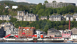 Waverley is one of the world's greatest historic ships – the last sea-going paddle steamer in the world. Seen here returning to Oban after her four Loch's and Corryvreckan cruise. (c) Stephen Lawson   Edinburgh Elite media