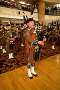 MEMBERS OF LONDON SCOTTISH RIGEIMNT PIPES AND DRUMS. , The Royal Caledonian Ball 2008. In aid of the Royal Caledonian Ball Trust. Grosvenor House. London. 2 May 2008.  *** Local Caption *** -DO NOT ARCHIVE-? Copyright Photograph by Dafydd Jones. 248 Clapham Rd. London SW9 0PZ. Tel 0207 820 0771. www.dafjones.com.