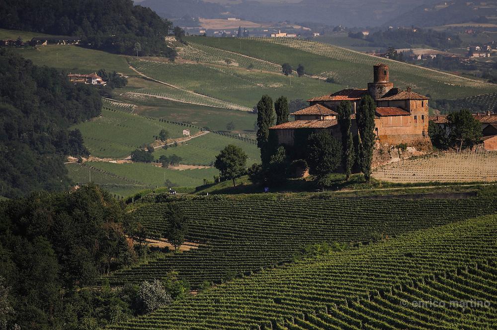 Langhe, La Morra.The La Volta castle between La Morra and Barolo.