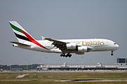A6-EOI Emirates Airways Airbus A380-800 at Malpensa (MXP / LIMC), Milan, Italy