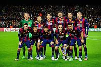 Equipe Barcelone - 10.12.2014 - Barcelone / Paris Saint Germain - Champions League<br />Photo : Dave Winter / Icon Sport