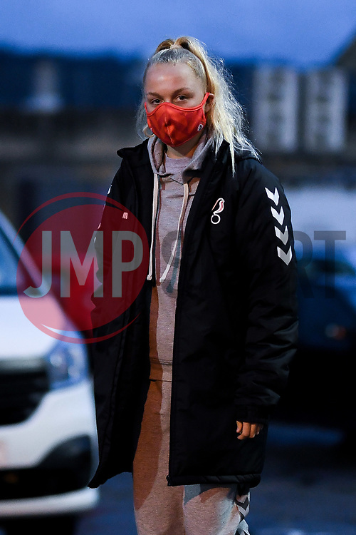 Maisy Collis of Bristol City Women arrives at Twerton Park prior to kick off - Mandatory by-line: Ryan Hiscott/JMP - 14/11/2020 - FOOTBALL - Twerton Park - Bath, England - Bristol City Women v Tottenham Hotspur Women - Barclays FA Women's Super League