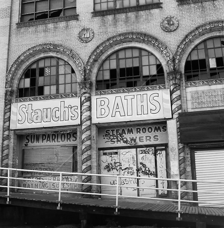 Exterior of building in Coney Island, NY