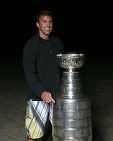 17 June 2007:  RICH MCHUGH.    Portrait of family, friends and hockey players on the sand in Newport Beach, CA on Fathers Day with the NHL Stanley Cup for the Hockey News courtesy of the Hockey Hall of Fame.  PERSONAL USE ONLY!!!!!!!