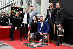 Carson Daly and Ellen DeGeneres attend the ceremony honoring Chris Kirkpatrick, Lance Bass, Joey Fatone, JC Chasez and Justin Timberlake of NSYNC with a star on the Hollywood Walk of Fame on April 30, 2018 in Los Angeles, California. Photo by Lionel Hahn/ABACAPRESS.COM