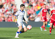 Leeds United FC midfielder Lewis Cook  in action during the Sky Bet Championship match between Middlesbrough and Leeds United at the Riverside Stadium, Middlesbrough, England on 27 September 2015. Photo by George Ledger.