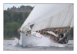 The final day of racing of the Fife Regatta on the King's Course North of Great Cumbrae<br /> <br /> Latifa, 8, Mario Pirri, ITA, Bermudan Yawl, Wm Fife 3rd, 1936<br /> <br /> <br /> * The William Fife designed Yachts return to the birthplace of these historic yachts, the Scotland's pre-eminent yacht designer and builder for the 4th Fife Regatta on the Clyde 28th June–5th July 2013<br /> <br /> More information is available on the website: www.fiferegatta.com