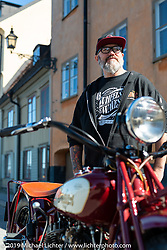 Indian Motorcycles design director Ola Stenegard at the Fotografiska Museum of Photography. Stockholm, Sweden. Friday, May 31, 2019. Photography ©2019 Michael Lichter.