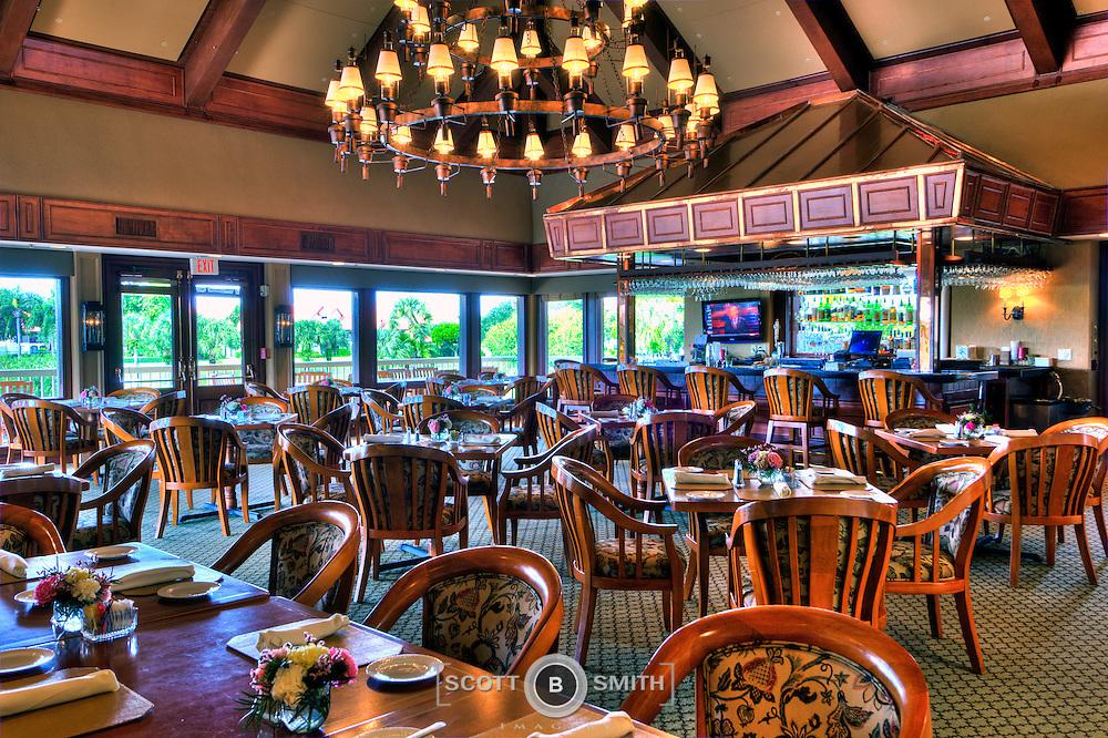 Golf Club restaurant / bar & grill of Jonathan's Landing, Jupiter, Florida.