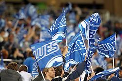 Happy Blues fans. Investec Super Rugby - Blues v Waratahs, Eden Park, Auckland, New Zealand. Saturday 16 April 2011. Photo: Clay Cross / photosport.co.nz