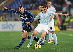 03.12.2010, Stadio Olimpico, Rom, ITA, Serie A, Lazio Rom vs Inter Mailand, im Bild goran pandev (inter) e stefan lichtsteiner (lazIo), EXPA Pictures © 2010, PhotoCredit: EXPA/ InsideFoto/ Massimo Oliva         +++++ ATTENTION - FOR AUSTRIA/AUT, SLOVENIA/SLO, SERBIA/SRB an CROATIA/CRO CLIENT ONLY +++++