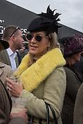 VISCOUNTESS DAVENTRY, The Cheltenham Festival Ladies Day. Cheltenham Spa. 11 March 2015