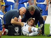 Fotball<br /> Euro 2004<br /> 01.07.2004<br /> Foto: SBI/Digitalsport<br /> NORWAY ONLY<br /> <br /> Hellas v Tsjekkia 1-0<br /> <br /> Pavel Nedved lays in agony