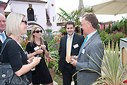 EMILY THYSSE; PATRICK LITTLEMORE, Archant Summer party. Kensington Roof Gardens. London. 7 July 2010. -DO NOT ARCHIVE-© Copyright Photograph by Dafydd Jones. 248 Clapham Rd. London SW9 0PZ. Tel 0207 820 0771. www.dafjones.com.