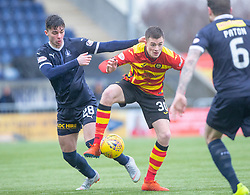 Falkirk's Ciaran McKenna and Partick Thistle's Lewis Mansell. Falkirk 1 v 1 Partick Thistle, Scottish Championship game played 16/3/2019 at The Falkirk Stadium.