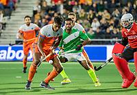 AMSTELVEEN - Terrance Pieters (Ned)     tijdens  de tweede  Olympische kwalificatiewedstrijd hockey mannen ,  Nederland-Pakistan (6-1). Oranje plaatst zich voor de Olympische Spelen 2020.   COPYRIGHT KOEN SUYK