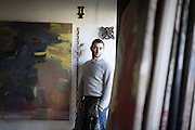 Artist Richard Hearns  at his studio in Ballyvaughan, Co Clare. Photograph by Eamon Ward