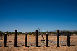 The border fence near Sasabe, Sonora and Sasabe, Arizona.