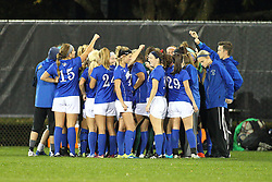 04 November 2016:   during an NCAA Missouri Valley Conference (MVC) Championship series women's semi-final soccer game between the Indiana State Sycamores and the Illinois State Redbirds on Adelaide Street Field in Normal IL
