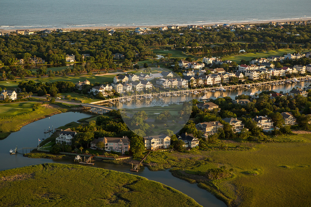 Aerial view of Wild Dunes resort development on Isle of Palms in Charleston, SC
