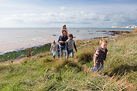 Lifestyle shots of a lovely looking family enjoying the beautiful Isle of Wight coastline on a stunning autumnal day.