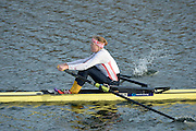 Boston, Great Britain.  Women's single scull winner, Fran HOUGHTON, at the GB Rowing Team Winter Assessment, Boston Rowing Club, River Witham, Lincolnshire.   Saturday   14/12/2013   [Mandatory Credit. Peter Spurrier/Intersport Images]