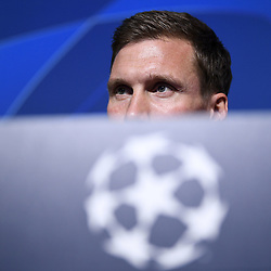 November 26, 2019, Genk, BELGIUM: Genk's head coach Hannes Wolf pictured during a press conference of Belgian soccer team KRC Genk, Tuesday 26 November 2019 in Genk, in preparation of tomorrow's match against Austrian club RB Salzburg in the group stage of the UEFA Champions League. BELGA PHOTO YORICK JANSENS (Credit Image: © Yorick Jansens/Belga via ZUMA Press)