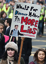 FILE PICTURE - Roundup of yesterdays Student protests..© under license to London News Pictures. 09/12/10. Students assemble outside University College London at the start of the fourth anti-cuts protest. Credit should read Matt Cetti-Roberts/London News Pictures