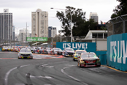 October 21, 2018 - Gold Coast, QLD, U.S. - GOLD COAST, QLD - OCTOBER 21: Race start with David Reynolds / Luke Youlden in the Erebus Penrite Racing Holden Commodore in front at The 2018 Vodafone Supercar Gold Coast 600 in Queensland, Australia. (Photo by Speed Media/Icon Sportswire) (Credit Image: © Speed Media/Icon SMI via ZUMA Press)