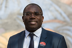© Licensed to London News Pictures. 28/04/2014. London, UK. Rt Hon David Lammy MP attends a rally to canvass support for Labour candidate John Biggs to become the Mayor of Tower Hamlets in the upcoming May elections at Cable Street in Shadwell, East London on 28th April 2014. Photo credit : Vickie Flores/LNP