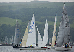 Caledonia MacBrayne Largs Regatta Week 2016<br /> <br /> Class 3 start with Excalibur<br /> <br /> Credit Marc Turner / PFM Pictures.co.uk