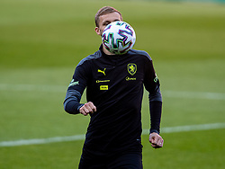 CARDIFF, WALES - Monday, March 29, 2021: Czech Republic's Tomáš Souček during a training session at the Cardiff City Stadium ahead of the FIFA World Cup Qatar 2022 Qualifying Group E game against Wales. (Pic by David Rawcliffe/Propaganda)