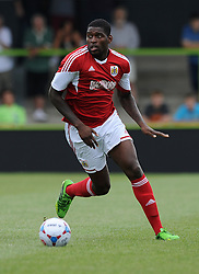 Forest Green Rovers Alhassan Bangura tries to stop Bristol City's Jay Emmanuel-Thomas  - Photo mandatory by-line: Dan Rowley/JMP  - Tel: Mobile:07966 386802 20/07/2013 -Forest Green Rovers  vs Bristol City  - SPORT - FOOTBALL - Forest Green Rovers - Bristol city  -
