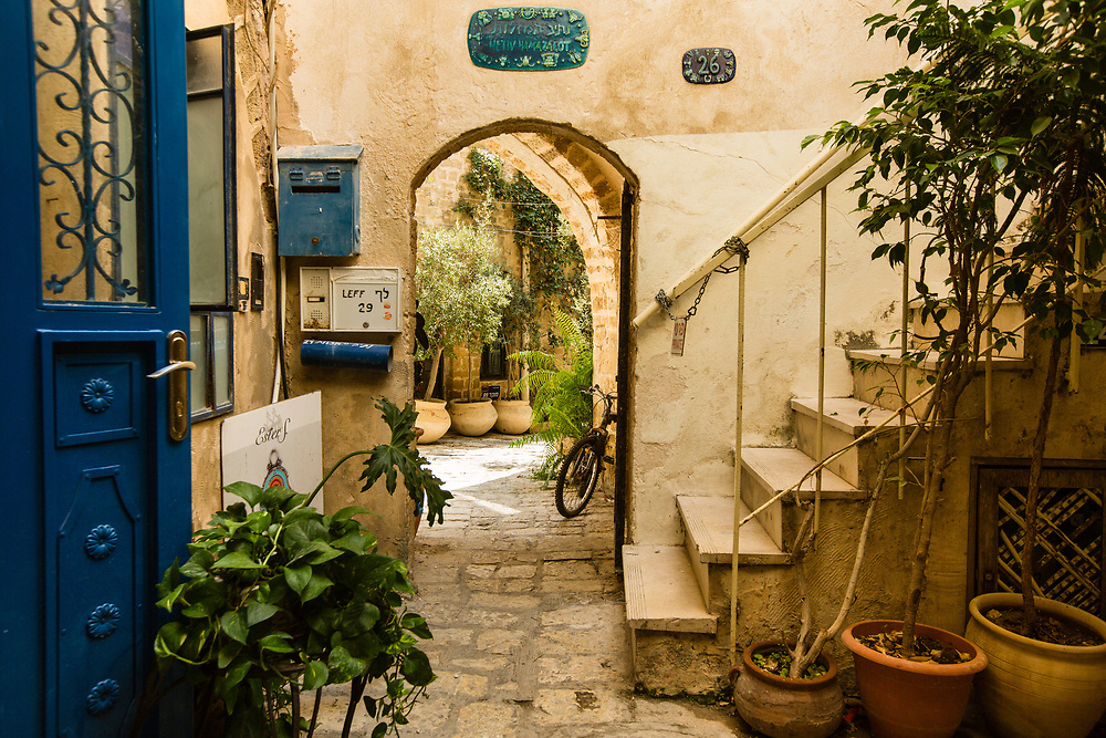An alleyway at the Old City of Jaffa