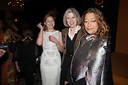 KATHRYN PARSONS;  THERESA MAY; DAME ZAHA HADID; The Veuve Clicquot Business Woman Of The Year Award, celebrating women's excellence in business and commitment to sustainability. Claridge's, Brook Street, London, 22 April 2013
