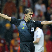 Referee Paolo Tagliavento during their UEFA Champions League Group H matchday 3 soccer match Galatasaray between CFR Cluj at the TT Arena Ali Sami Yen Spor Kompleksi in Istanbul, Turkey on Tuesday 23 October 2012. Photo by Aykut AKICI/TURKPIX