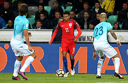 Jesse Lingard of England takes on the Slovenia defence - Mandatory by-line: Robbie Stephenson/JMP - 11/10/2016 - FOOTBALL - RSC Stozice - Ljubljana, England - Slovenia v England - World Cup European Qualifier