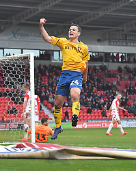 Charlton Athletic's Josh Cullen celebrates his team's opening goal