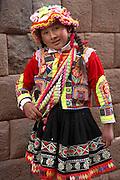 Indigenous girl  Cusco, Peru