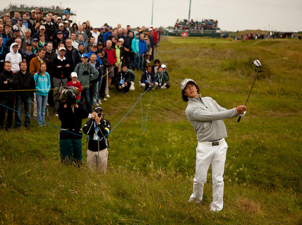 SANDWICH, UK - JULY 14: Ryo Ishikawa of Japan plays a shot during the first round of the 2011 Open Championship at Royal St. George's Golf Club in Sandwich, England on July 14, 2011. (Photo by Darren Carroll) *** Local Caption *** Ryo Ishikawa
