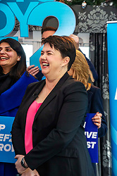 Pictured: Ruth Davidson<br /><br />On the final day of electioneering for the UK election, Jackson Carlaw, Leader of the Scottish Conservatives and Ruth Davidson led an election rally in Edinburgh.<br />.<br />Ger Harley | EEm 11 December 2019