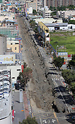 KAOHSIUNG, CHINA - AUGUST 04: (CHINA OUT) <br /> <br /> Gas Explosion Rips up entire road in china<br /> <br /> A general view of a broken road after Kaohsiung\'s gas explosion on August 4, 2014 in Kaohsiung, Taiwam of China. Part of the pipeline was found wornout after 4 days of investigations. <br /> ©Exclusivepix