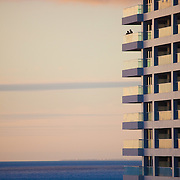 Image of two people enjoying the sunset on this Puerta Vallarta high rise, Mexico.