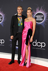 Dua Lipa and Anwar Hadid at the 2019 American Music Awards held at the Microsoft Theater in Los Angeles, USA on November 24, 2019.