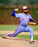CHICAGO - 1986:  Jeff Reardon of the Montreal Expos pitches during an MLB game at Wrigley Field in Chicago, Illinois during the 1986 season. (Photo by Ron Vesely) Subject:   Jeff Reardon