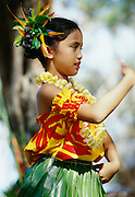 Hula Dancer, Molokai, Hawaii.