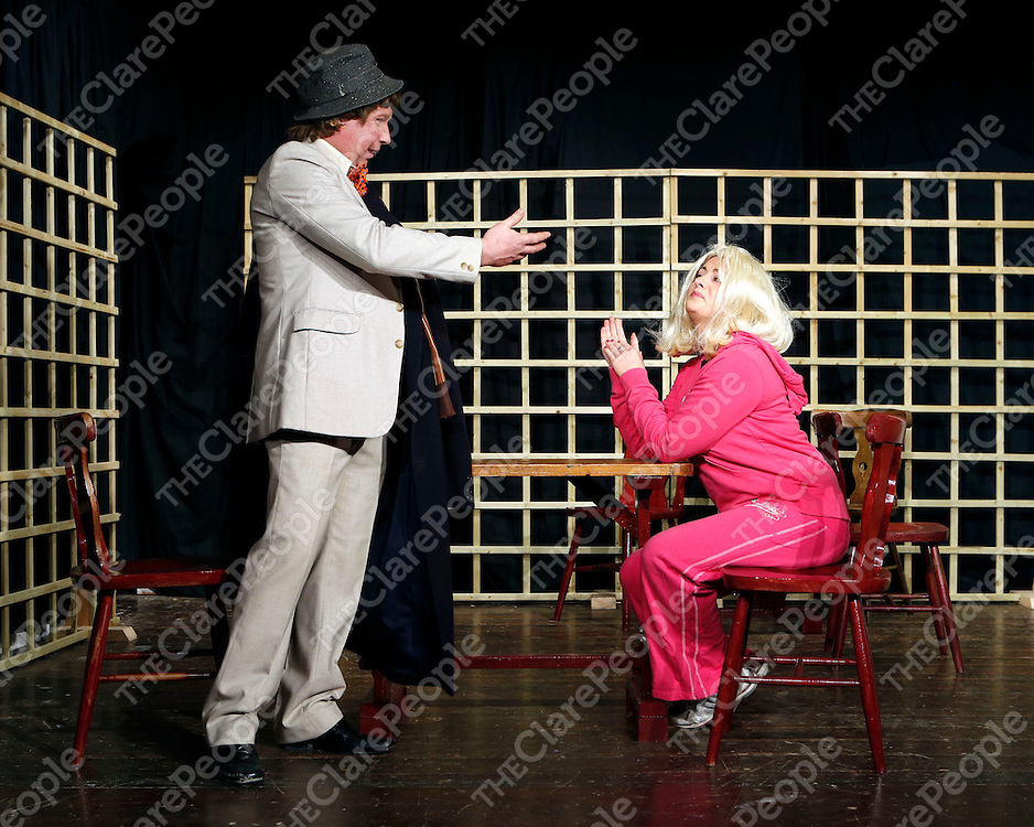 17/02/2013<br /> Patrick O'Loughlin and Diane Rynne pictured at Dress Rehersal for Fortunes and Misfortunes at Mullagh Hall.<br /> Picture: Don Moloney / Press 22