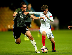 Mason Mount of England takes on Adrian Fein of Germany Under 19s - Mandatory by-line: Robbie Stephenson/JMP - 05/09/2017 - FOOTBALL - One Call Stadium - Mansfield, United Kingdom - England U19 v Germany U19 - International Friendly