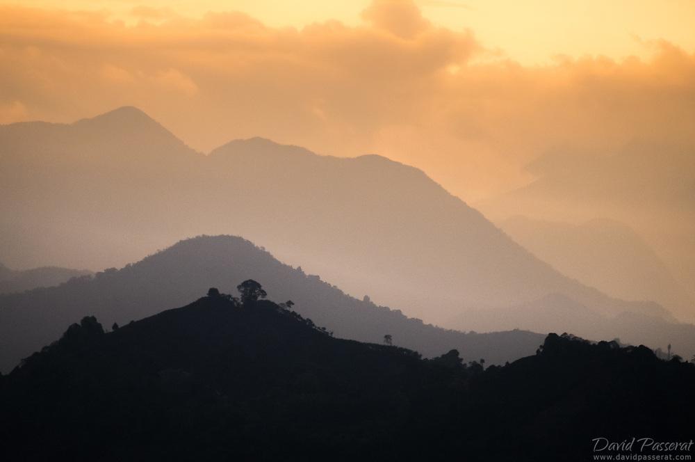 Sunset haze in Jardin.